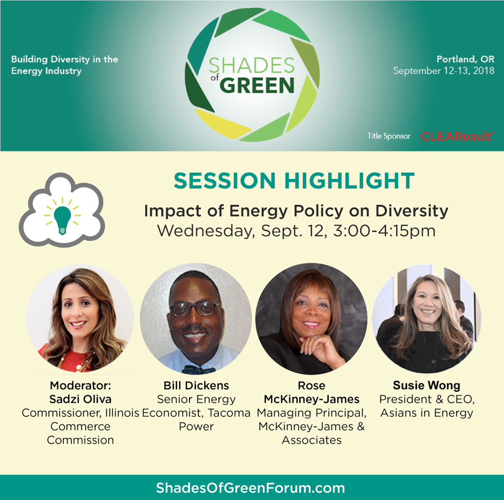 Flyer promoting Shades of Green forum